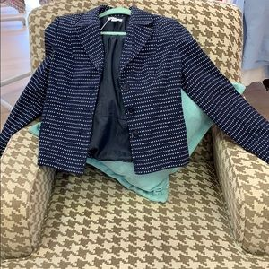 Navy Blue Jacket white dot print
